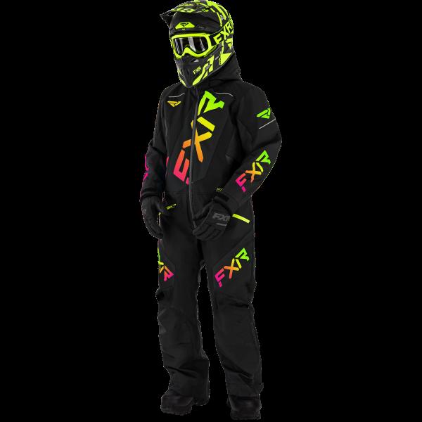 FXR CX Monosuit black/sherbert