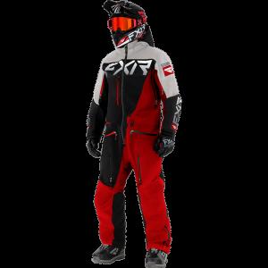 FXR 21 M Ranger Instinct Lite Monosuit Blk/Red/White Line Camo