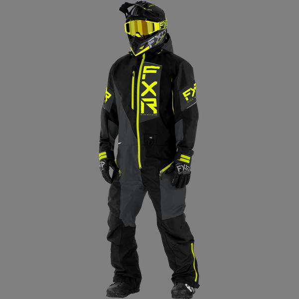 FXR 21 M Recruit Lite Monosuit Black/Char/Hi vis