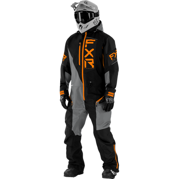 FXR 21 M Recruit Lite Monosuit Black/Grey/Orange