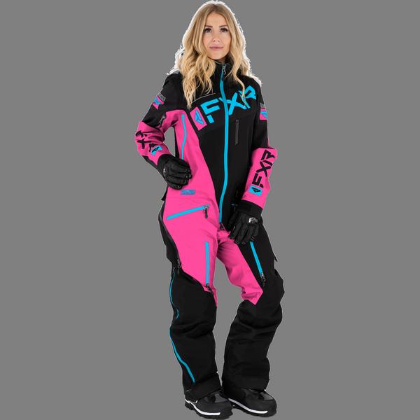 FXR 21 W Ranger Instinct Lite Monosuit Black/Elec Pink/Sky Blue