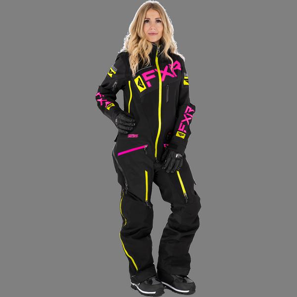 FXR 21 W Ranger Instinct Lite Monosuit Black/fuchsia/Hi vis
